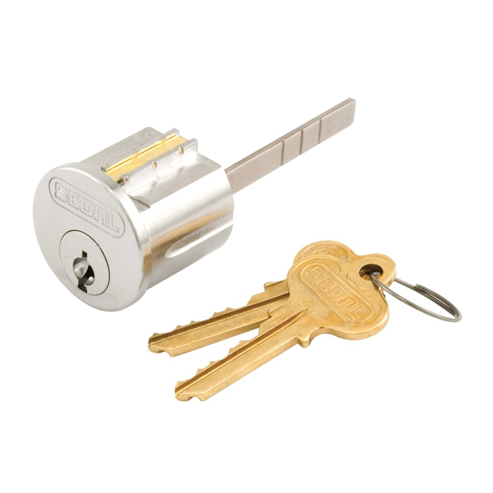 Prime-Line Products SE 70003 Brass Key Lock Cylinder, Chrome Finish