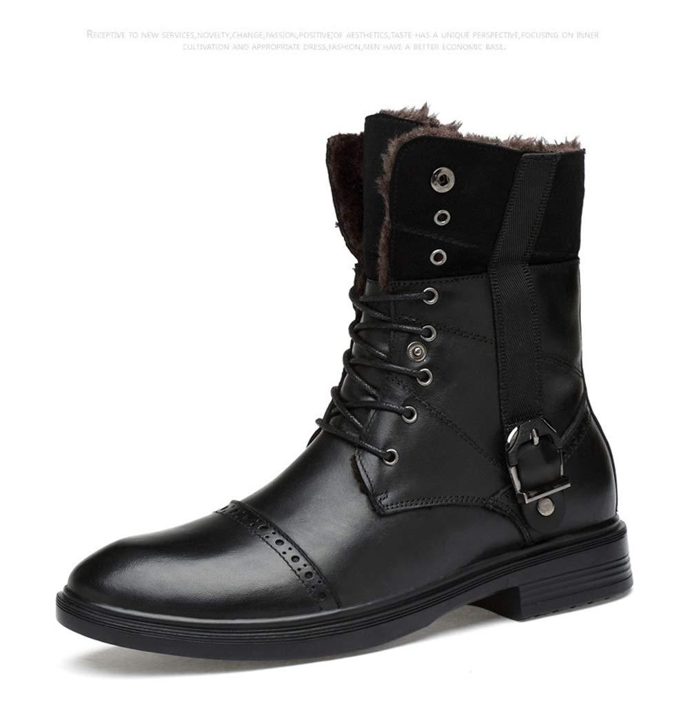 Männer Schuhe Herren Stiefeletten, Winter Freizeitschuhe Hohe Lederschuhe Männliche Britische Baumwolle Stiefel Herbst Winter Stiefeletten Herrenmode Stiefel (Farbe   B, Größe   34)