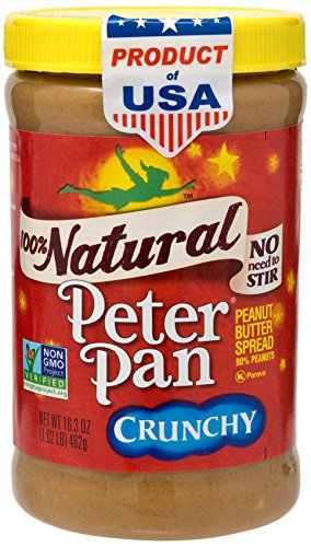 Butter Pan Peanut (Peter Pan 100% Natural Crunchy Peanut Butter)