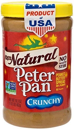 Peanut Pan Butter (Peter Pan 100% Natural Crunchy Peanut Butter)
