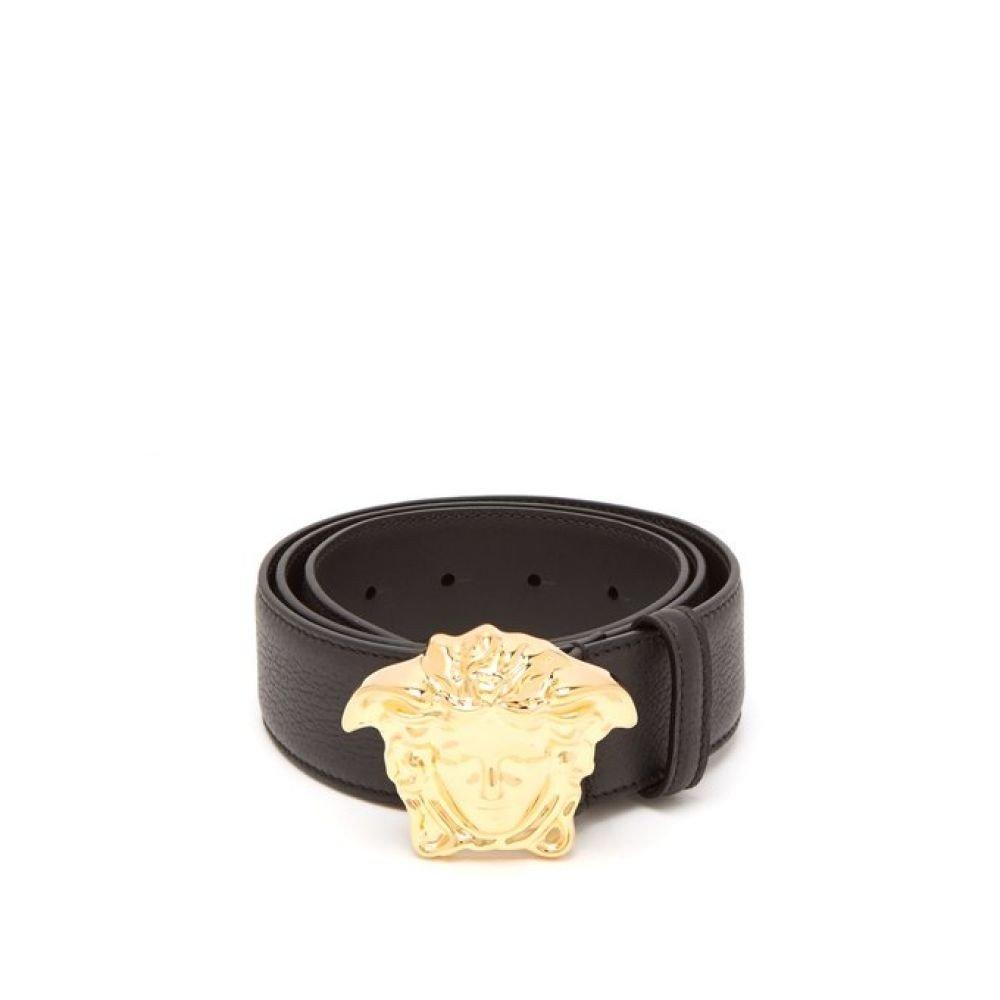 (ヴェルサーチ) Versace メンズ ベルト Palazzo Medusa head leather belt [並行輸入品] B07FJNQCZK   105EU