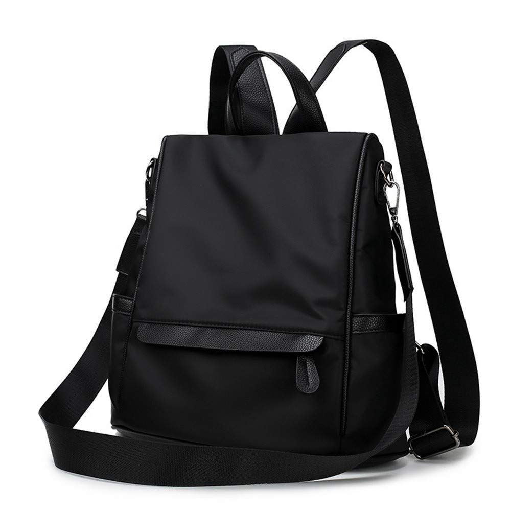 Black DYR AntiTheft Backpack Ladies Backpack Nylon nvas Shoulder Bag Outdoor Travel Bag Casual Chest Bag