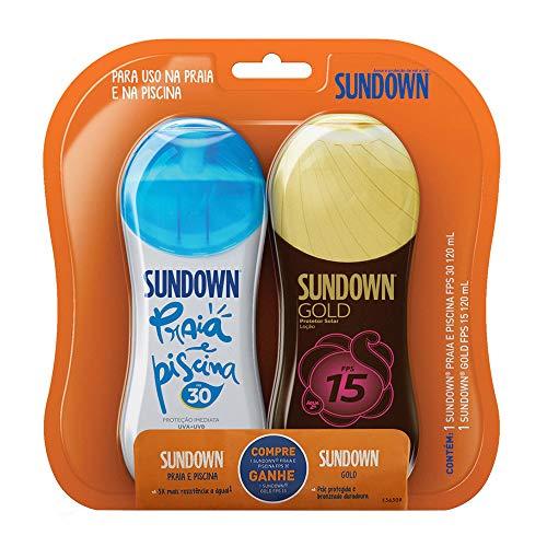 Protetor Solar Sundown Praia e Piscina FPS 30 120ml + Grátis Sundown Gold FPS 15 120ml