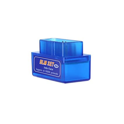 Techrace Mini Port/átil ELM327 V2.1 OBD2 II Bluetooth Coche de Diagn/óstico Durable Auto Interface de Esc/áner Azul Premium ABS Herramienta de Diagn/óstico