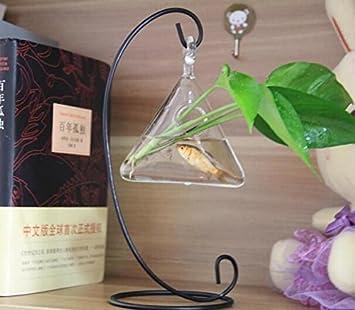 Hierro macetas soporte plantadores de los floreros de cristal decoración de jarrones de cristal de escritorio baratas para las plantas verdes, peceras ...