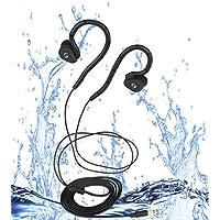 Sigoma High sound quality waterproof swimming headpones(IPX-8) Black