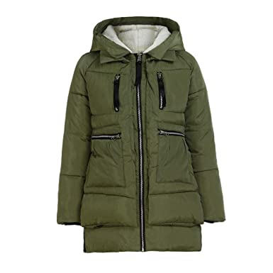 a2ca9cdf8fc Lazzboy Women Coat Jacket Parka Puffer Winter Warm Fluffy Fleece Hooded  Cotton-Padded Pockets UK