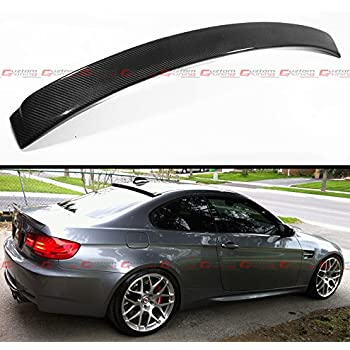 Cuztom Tuning Ac Style Real Carbon Fiber Rear Window Roof Spoiler Wing Fits For 2007 2012 Bmw E92 E92 M3 2 Door Coupe
