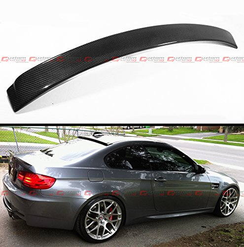 AC STYLE REAL CARBON FIBER REAR WINDOW ROOF SPOILER WING FOR 2007-2012 BMW E92 & E92 M3 2 DOOR COUPE ()