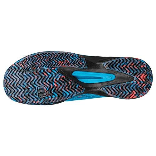 Wilson Kaos �?Zapatillas de tenis para hombre Azul (Hawaiian Ocean / Black / Fiery Coral)