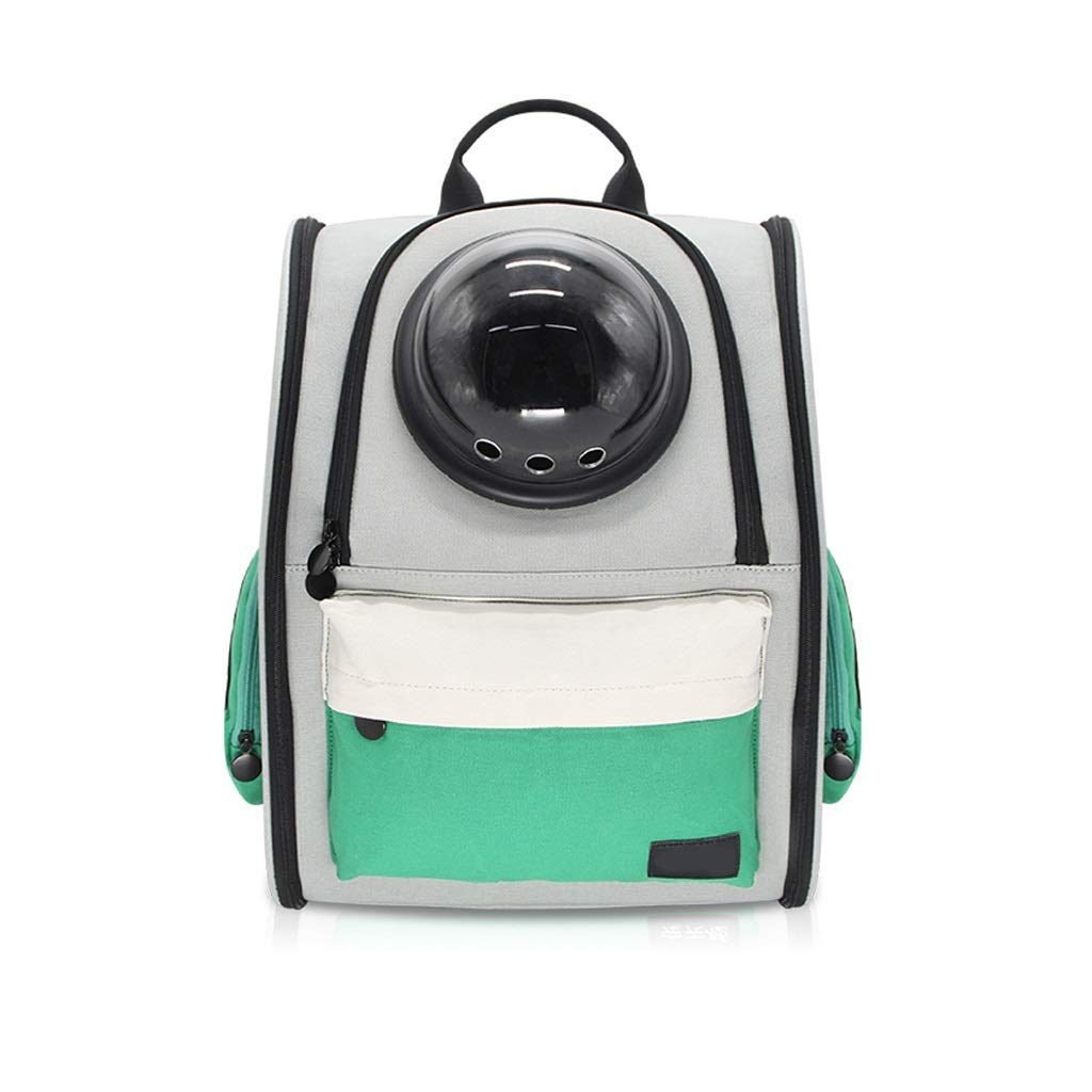GREEN Detachable Pet Dog Bubble Carrier Backpack Breathable Airline Approved Carrier Mobile Bed for Cats and Dogs,36x26x42cm (color   GREEN) Non Slip Cushion Pad (color   GREEN)