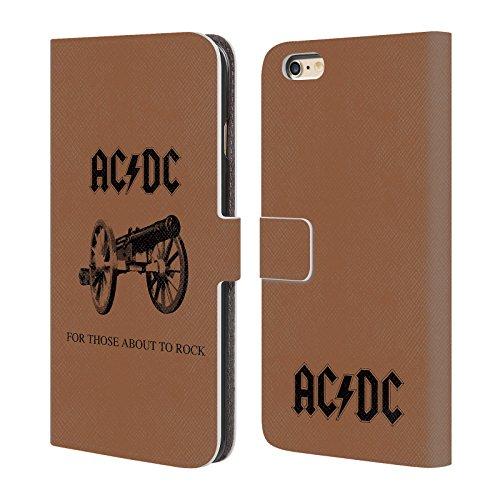 Officiel AC/DC ACDC Pour Ceux Étant Sur Le Point Rock Couverture D'album Étui Coque De Livre En Cuir Pour Apple iPhone 6 Plus / 6s Plus