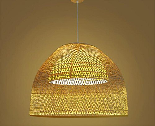 LUCKY CLOVER-AHanging Lamp Chandelier Ceiling Pendant Light Shade Lattice Wicker Rattan Handmade Gift Loft Decor Retro Country Style Lighting , 8060 (Resin Paint Spray For Furniture Wicker)