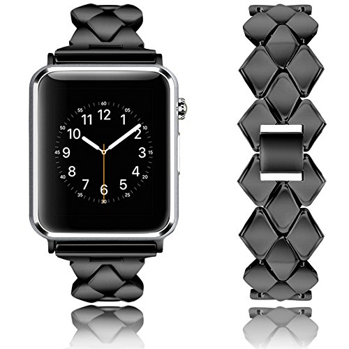 Rockvee Compatible Apple Watch Band 38mm 42mm, Metal Bracelet Business Replacement Wristband Bands iWatch Nike+, Series 3 2 1, Sport, Edition, Women Men, Silver, Rose Gold, Black, Gold by Rockvee