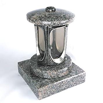 designgrab aluminio Grab lámpara con base de granito 20 x 20 x 5 cm, de