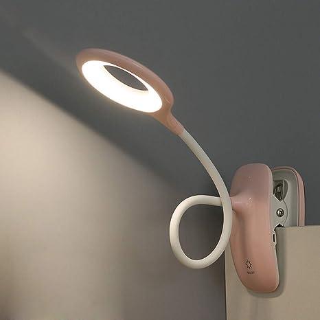 Lampada Lettura Con Pinza Lampade Con Pinza Led 3 Modalita Controllo Tattile Dimmer Lampada Da Tavolo Per Bambini Ricaricabile Con Usb Rosa Amazon It Illuminazione