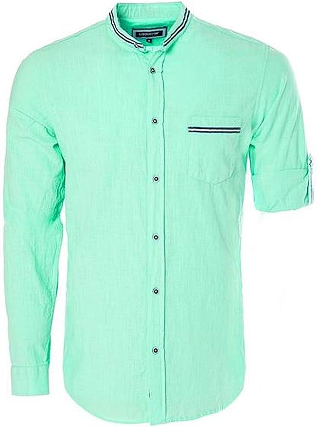 Camisa de lino Verde menta claro HOMBRE | H&M ES