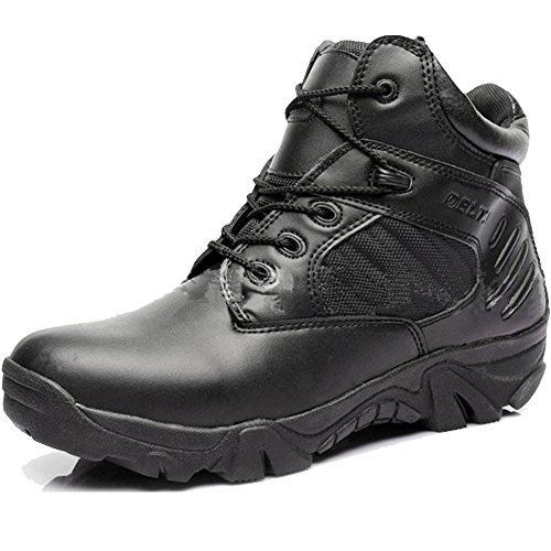 YoungFashion Men's Delta Side Zip Uniform Work Ankle Boots,Black,US 12 (Side Zipper Uniform Boot)