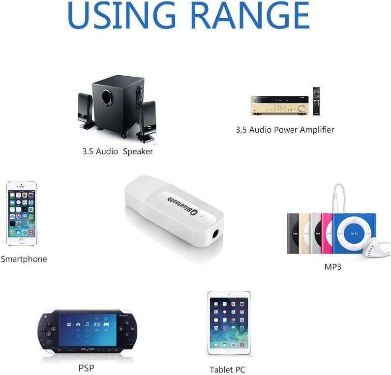 Receptor Bluetooth Usb, Receptor Equipo Stereo de música 3.5mm Manos libres portable USB sin cables Receptor Bluetooth de Audio: Amazon.es: Electrónica