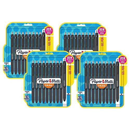 Paper Mate InkJoy Retractable Gel Pens, 0.7mm, Medium Point, Black Ink (40-Count)