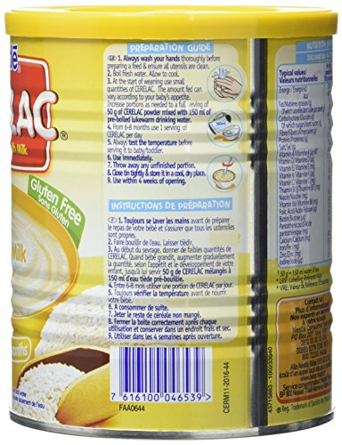 nestle cerelac rice with milk infant cereal 400g 6 months pack of 6 amazon co uk grocery