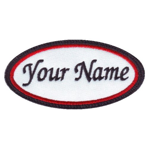Oval Custom Embroidered Name Patch