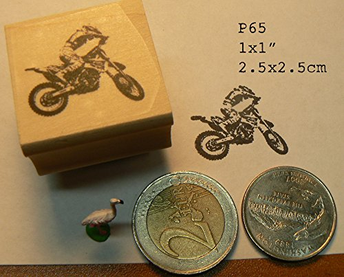 P65 miniature motocross rubber stamp