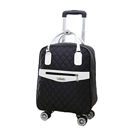 4ee91eec866b Amazon.com: Minmin-lgx Rolling Duffle Trolley Bag Wheeled Travel ...