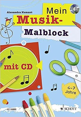 Mein Musik Malblock Kreativblock Fur Kinder Im Kindergartenalter