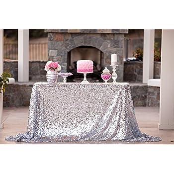 50u0027u0027x72u0027u0027silver Sequin Tablecloth, Wedding