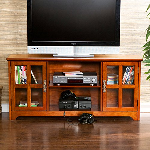 037732099071 - Remington Mission Oak Media Stand carousel main 1