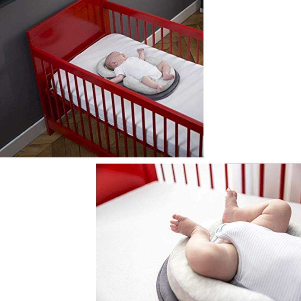 Newborn Lounger Portable Baby Bed Mattress Pad Baby Bed Baby Stereotypes Bed Infant Body Support Crib Bumper Nursing Pillow Newborn Anti-Rollover Mattress Gray