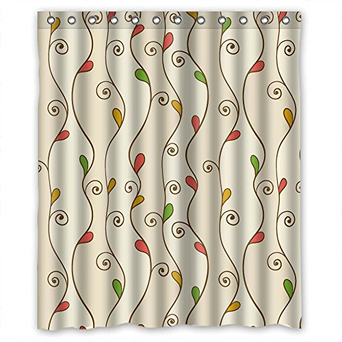 Monadicase Bathroom Curtains Of Leaf Polyester Width X Height / 60 X 72 Inches / W H 150 By 180 Cm,best Fit For Her,birthday,birthday,boys,him. Dries Quickly. Fabric