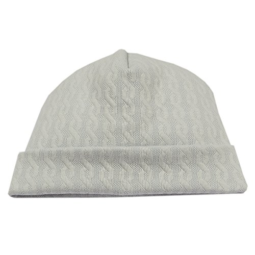 Kissy Kissy Baby Boys Cable Couture Jacquard Hat - Silver-Small Pima Cotton Cable