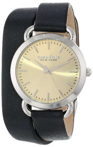 Caravelle New York Women's 43L163 Analog Display Japanese Quartz Black Watch