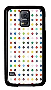 Colorful Circle PC Case Cover for Samsung S5 and Samsung Galaxy S5 Black