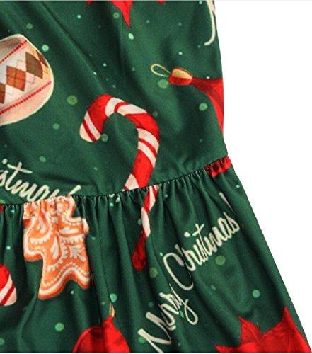 Inverno Autunno Natale Stampa Comfy Lungo Festa Abito Come Donne Floreale Di Immagine Di dqw4XOHE