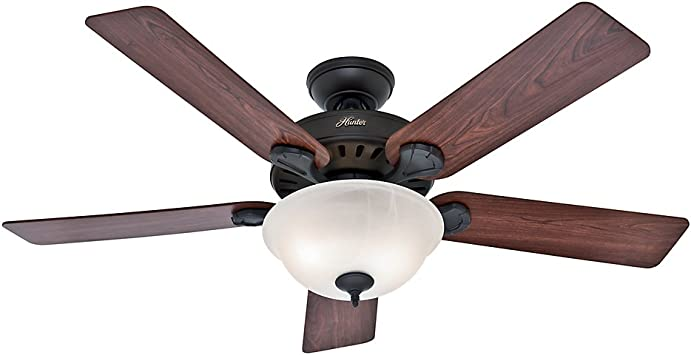 Hunter Pro S Best Indoor Ceiling Fan With Led Light And Pull Chain Control 52 New Bronze Amazon Com