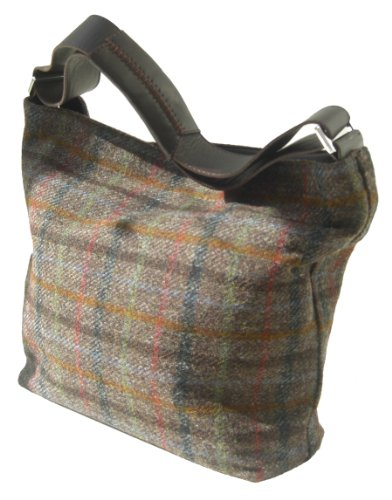 Chantam, Borsa a spalla donna (Harris Tweed Brown)