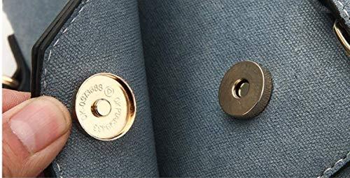 Simple Casual Azul Multiuso de Plaza Hombro tamaño Manera de de la Color pequeño la Bolso Azul Eeayyygch Bolso 7nOx66
