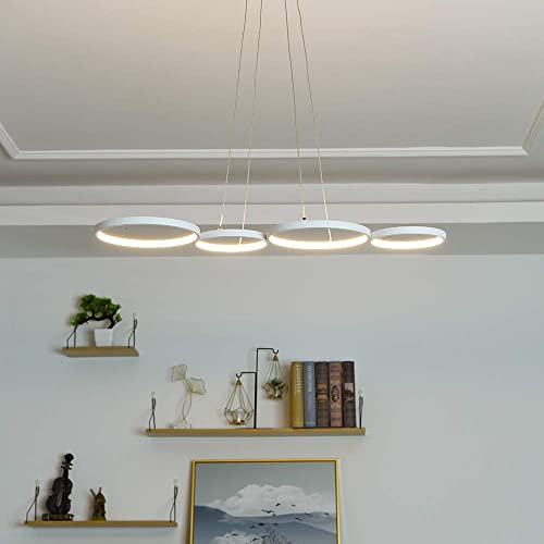 LED Pendant Light Modern Ring-Shaped 34.6 Inches Length