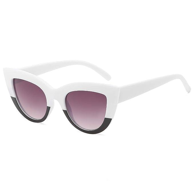 Amazon.com: MAOLEN Retro Cateye Gafas de Sol para Mujer ...