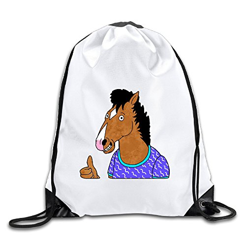 Hunson - Funny BoJack Horseman Sport Bag Drawstring Sling Backpack For Men & Women Sackpack