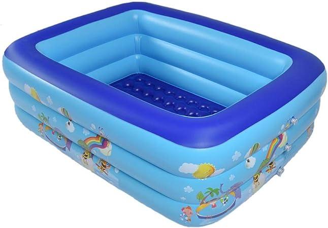 Family Size Rectangular 262 x 175 x 50cm Swimming Pool Children Garden Outdoor