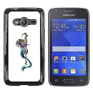 Be Good Phone Accessory // Dura Cáscara cubierta Protectora Caso Carcasa Funda de Protección para Samsung Galaxy Ace 4 G313 SM-G313F // Death Reaper Character White