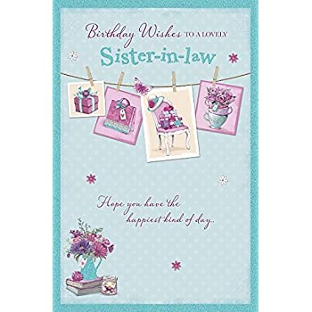 Amazon Happy Birthday Sister In Law Greeting Card Funny Cute