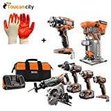 RIDGID GEN5X 18-Volt 5-Piece Combo Kit with BONUS 18-Volt Brushless Impact Wrench and 18-Volt Brushless Trim Router R9652-R86011B-R86044B and Toucan City Nitrile Dip Gloves(5-Pack) Reviews