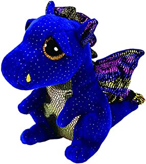 Amazon Com Ty Beanie Boos Cinder The Green Dragon Plush Toys Games
