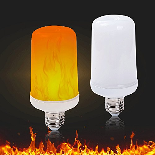(LED Flame Effect Light Bulbs Flickering Fire Bulb 5W 1800K E26/E27 Flaming Decoration Lighting,1 Pack)