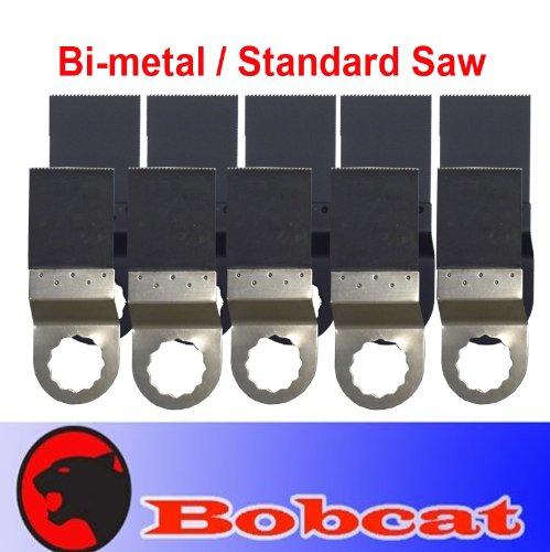 MTP Tm Pack of 10 Comb Fine Tooth BIM Standard Cut Oscillating Multi Tool Saw Blade for Fein Multimaster Supercut (Super Fine Cut Saw)